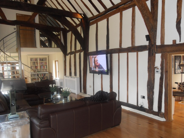 TV & Music System for Barn