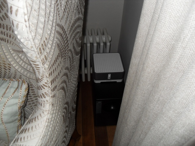 Bose Acoustimass® 3 stereo speaker system with Sonos Amplifier hidden